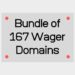 Bundle of 167 Wager Domains